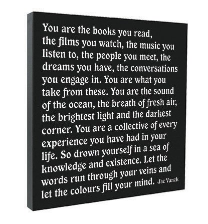 Amazoncom Quotable The Books You Read Quote On Canvas 12 X
