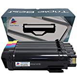Triple Best Set of 5 Compatible H825cdw Toner for Dell 593-BBOW N7DWFE 593-BBOX P3HJKE 593-BBOY 5PG7PE 593-BBOZ 3P7C4E used with Dell H625cdw H825cdw S2825cdn Printer High Yield
