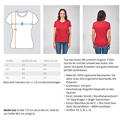 swgl2 Shirtee De S 3l2rzged Para Algodón Morado Mujer Atollblau Añil 1115 Tela s Bolso rf5raBx