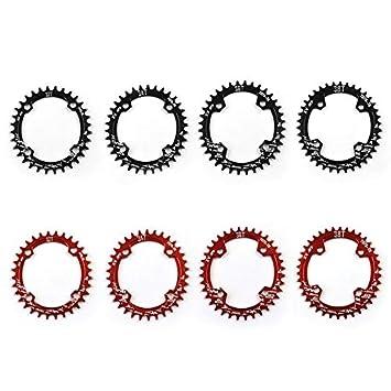 Moto Estrecho Ancho Oval Conjunto de Platos de 104 mm Anillo de la Cadena Anillo de la Cadena BCD Crank 32T 34T 36T 38T CNC de aleaci/ón de Aluminio para MTB