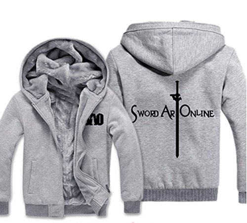 Camplayco SAO Sword Art Online Cosplay Thick Hoodie Warm Coat Size M