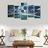 Hotel or Spa Wall Decorations Nature Forests Canada Waterfalls Ontario Falls Rooms Wall Paintings Living Room Canvas Prints Fashion Personalities Decor 5 Piece Canvas painting (No Frame)