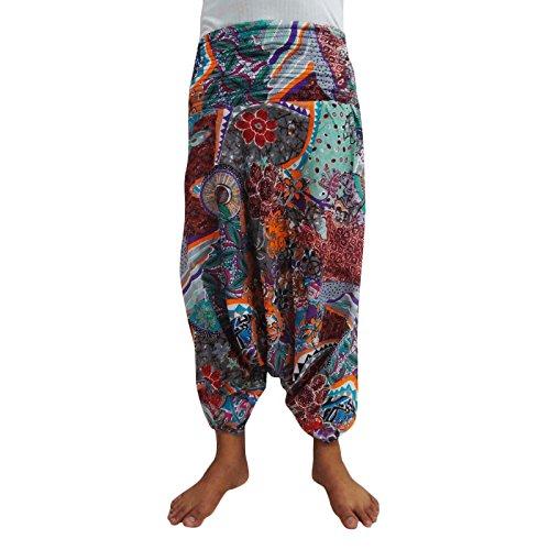 multicolour Pure Cotton Harem Baggy Loose Casual Trouser Women Wear Hip Hop Pants