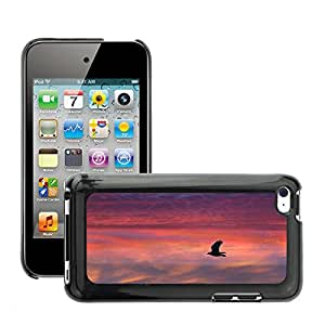 Cas Coq Case Cover // M00146571 Vuelo del pájaro emplumado Sunset Red // Apple ipod Touch 4 4G 4th