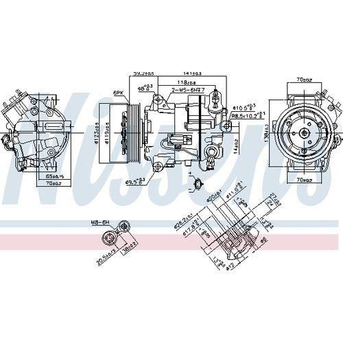 Nissens 890264 - Compresor de aire acondicionado: Amazon.es ...