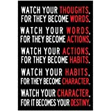 Watch Your Thoughts Motivational Poster 13 x 19in by Poster Revolution