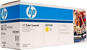 Hp 307a Laserjet Toner Cartridge, Yellow [ce742a]