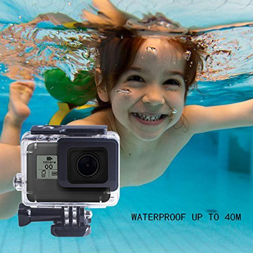Beinhome GoPro Hero 6 5 Waterproof Housing Case, 45m Standard Waterproof Housing Cover Shell [Dirt Proof] [Anti-Scratch] for GoPro Hero 6 and 5