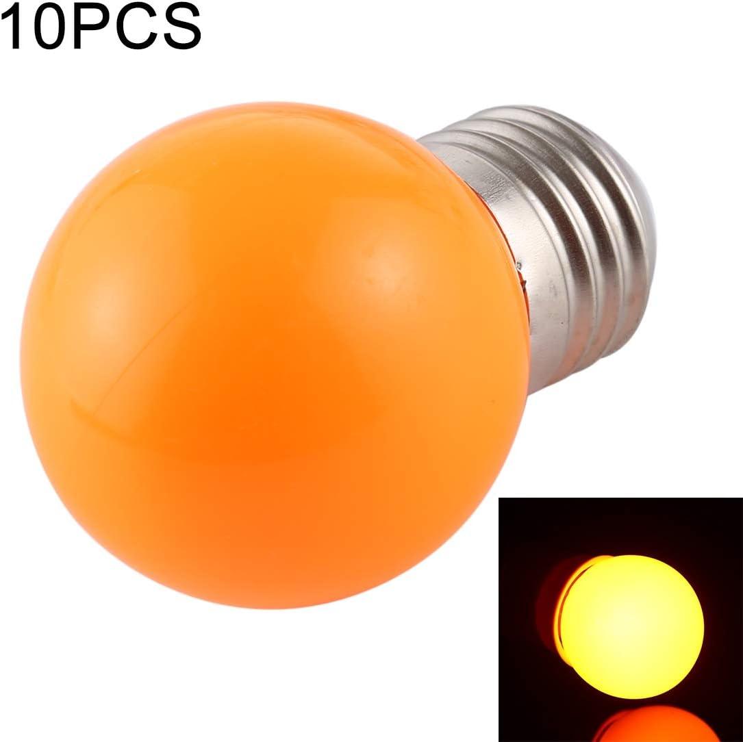 10 bombillas LED de 2 W E27 2835 SMD para decoración del hogar, DC 24 V (luz azul) bombillas LED (color: luz naranja)