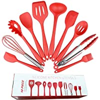 Kitchen Cooking Utensils,10PCS Kitchen Silicone Utensil,Heat Resistant Non-Stick Baking Tool Set