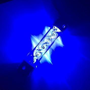 Computer Water Cooling Tank Led Light Cylinder T Virus Reservoir Helix Blue Gift