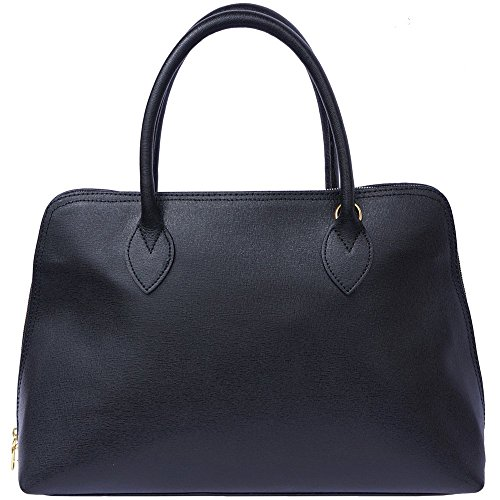 Leather 308 Business Pour En Market Saffiano Noir Sac Cuir Cartable Florence Femme Z6xq4dq