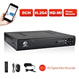 [Update version]JOOAN 8CH D1 DVR Security video recorder P2P Cloud Service Mobile Remote Monitoring No Hard Disk