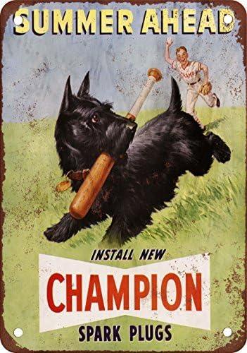 1950 Champion bujías reproducción de aspecto Vintage Metal placa metálica, 12 x 18 inches: Amazon.es: Hogar