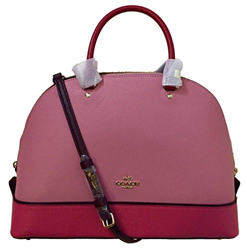 Pink Coach Purse - Coach Geometric Colorblock Sierra Satchel IM/LLK