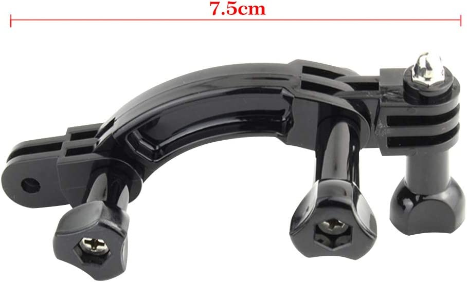 ZSooner Rotary Curved Extension Arm Mount Set for GoPro Hero7//6//5//4//3+//3//2//1 Action Camera Connection Helmet Accessories