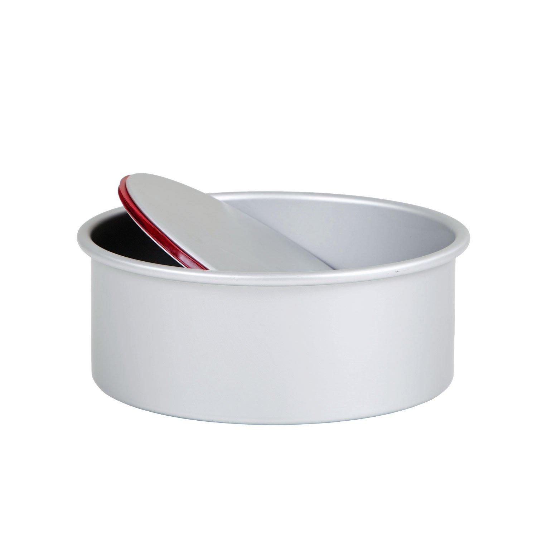 Plateado Aluminio Fundido a presi/ón 20 x 9 x 20 cm Pati-Versand 13689 Push Pan Redondo
