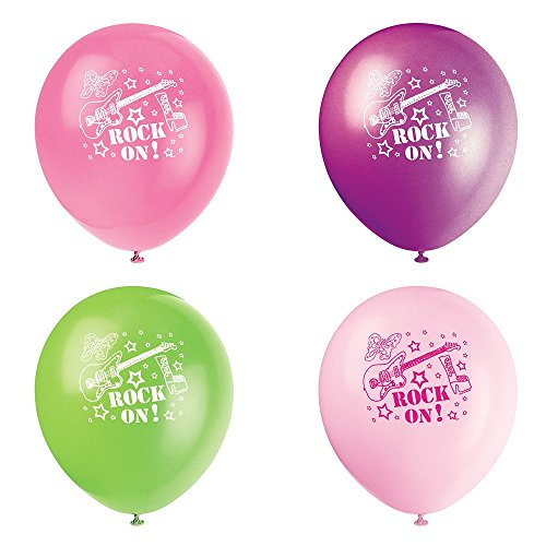 Latex Rock Girls Party Balloons