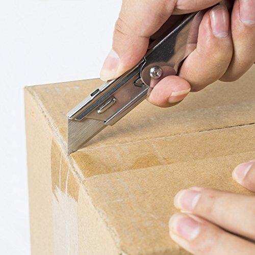 WORKPRO 3-piece Quick Change Folding Pocket Utility Knife Set with Belt Clip