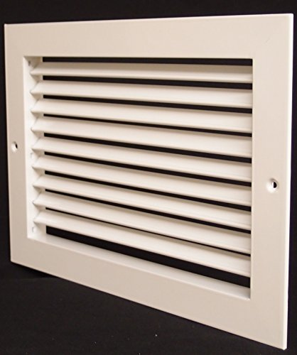 14''w X 10''h Aluminum Adjustable Return/Suuply HVAC Air Grille - Full Control Horizontal Airflow Direction - Vent Duct Cover - Single Deflection [Outer Dimensions: 15.85''w X 11.85''h] by HVAC Premium (Image #2)