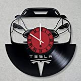 Cheap Vinyl Record Wall Clock Elon Musk Tesla Neuralink SpaceX decor unique gift ideas for friends him her boys girls World Art Design