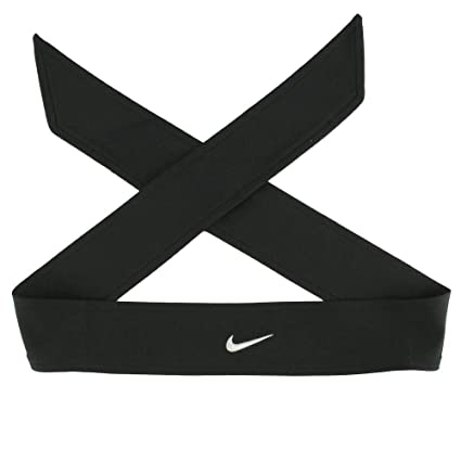 Amazon.com  Nike Dri Fit Head Tie Black  Sports   Outdoors f13165a6172