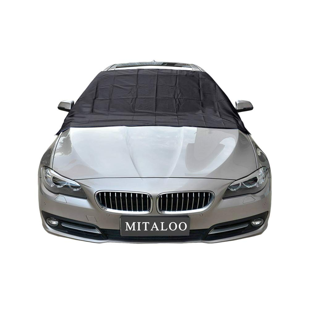 MITALOO Magnetic Windshield Snow Frost Ice Cover Sunshade Snow Covers with Magnet Edges Fits Most Car, SUV, Truck, Van or Automobile with 70'x 54' Van or Automobile with 70x 54