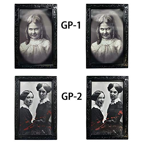 Longess Face Changing Scary Decorative Frame 3D Horror Portrait for School Classroom Halloween(2 Pcs) for $<!--$11.99-->