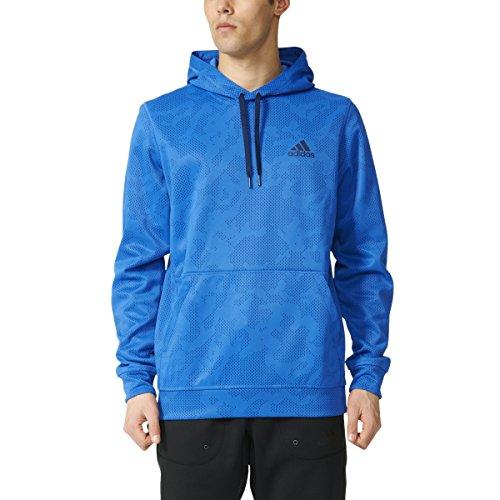adidas Performance Men's Team Issue Fleece Pullover Print Hoodie, X-Large, Blue/Collegiate Navy ()