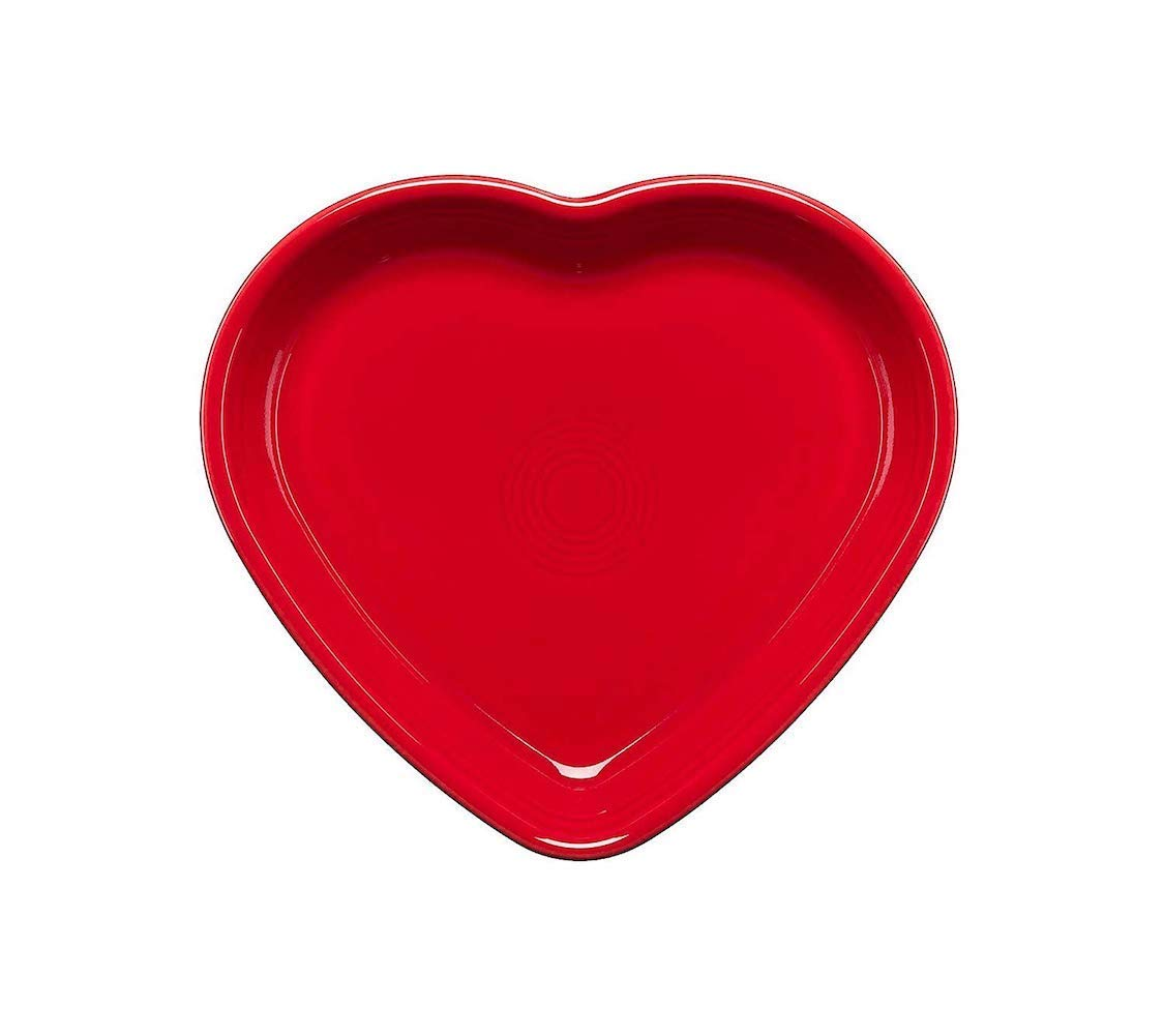 Homer Laughlin 326-1491 Large Heart Bowl, Scarlet