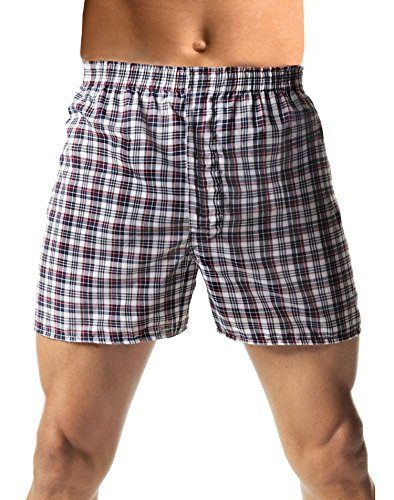 Hanes Mens TAGLESS Knit Boxers with Comfort Flex Waistband 3 pack,Black/Grey,XXXX-Large ()