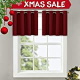 NICETOWN One Pair Solid Grommet Blackout Curtains (Regular)