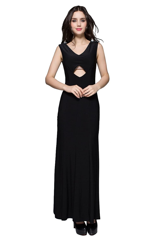 Dressesinstock Women's V-neck Stretch Sheath/Columm Evening Dress