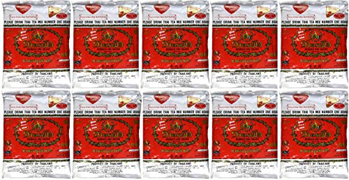 (WHOLESALE 10 Bags Number One The Original Thai Iced Tea Mix 4,000 Gram - Number One Brand Imported From Thailand - Great for Restaurants That Want to Serve Authentic and Thai Iced Teas, 400g Bag)
