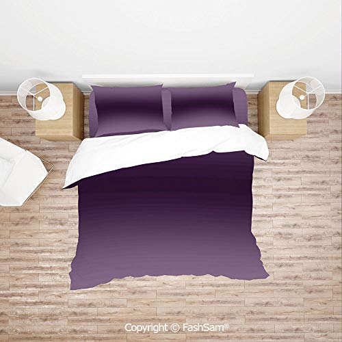 - FashSam Luxury 4 Pieces Duvet Cover Bedding Set Hollywood Glam Show Inspired Color Ombre Design Digital Printed Room Decorations Image for Family(King)