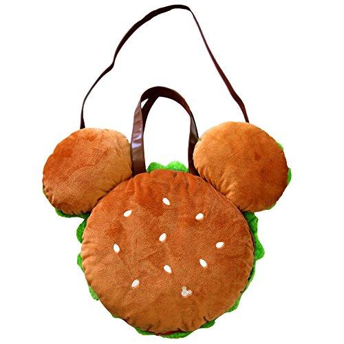 Mickey Mouse Hamburger Plush Tote Bag Tokyo Disneyland Tokyo Disney Resort Japan