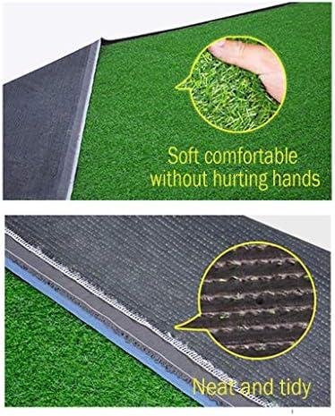 PING- 人工芝、 PE パイル高さ20mm 優れた透水性と難燃性 高密度フェイク人工芝 現実的な庭の芝生 4m×1m
