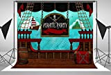 pirate ship deck party Backgrounds Computer printed Birthday backdrop ly-2018721