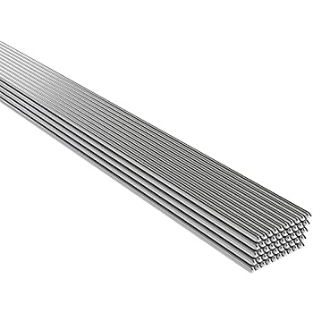 Walmeck 50PCS 2mm500mm Low Temperature Aluminum Welding Rod No Need Solder Powder