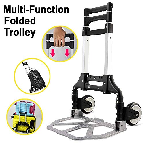 ROTY Heavy Duty 70kg Weight Capacity Industrial Hand Trolley Cart Folding Foldable Easy Store Car Van Garage Home Warehouse