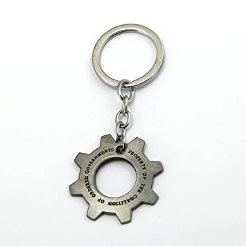 Key Chains - New Online Game Gears of War Keychain Gearwheel Ship Metal Sliver Key Chain Ring Holder Llaveros Chaveiro Men Women Gift Jewelry - by YPT ...