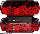 Sony PSP 3000 Decal Style Skin - HEX Red (OEM Packaging)