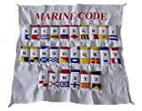 Naval Signal Flags/Flag Set- Set of Total 26 Flag with CASE Cover - Nautical/Maritime / Marine/Boat / Ship/Vessel / Nautical Décor (5099)