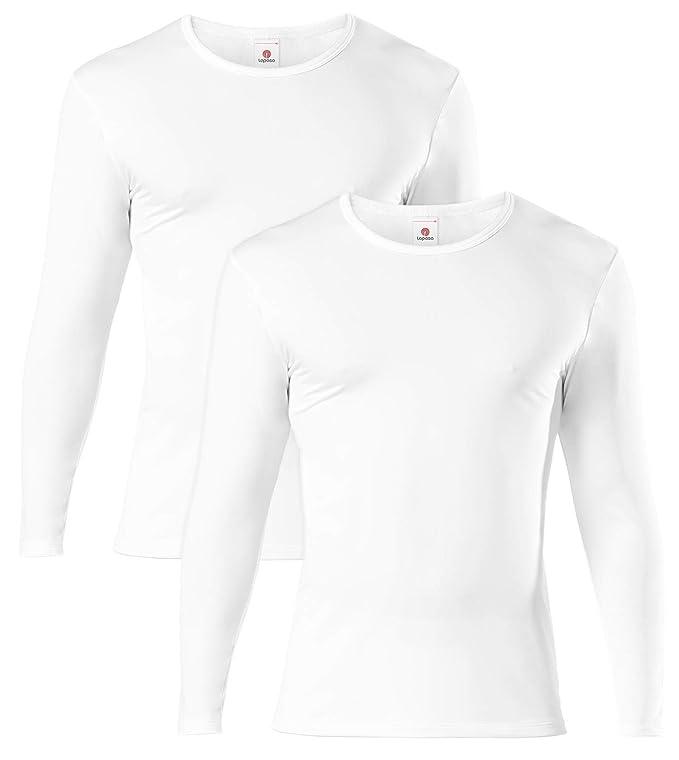150 opinioni per LAPASA Uomo T-Shirt Termica Pacco da 2 –Ti Tiene al Caldo Senza Stress- Intimo