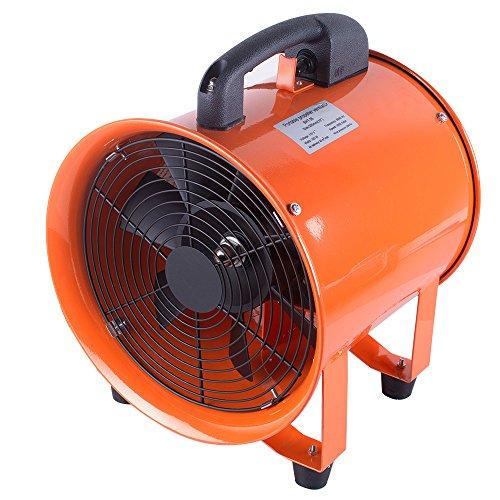 Zorvo Industrial Fan 10 Inch Air Mover Carpet Dryer Blower Portable Ventilation Fan Blower Gas Paint Garage Auto Workshop Fume Extractor Fan Home Fan Blow Dust Shipping from US