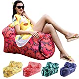 Inflatable Lounger Air Sofa Chair with U-Shape Neck Pillow and Handy Storage Bag for Camping&Hiking & Swimming Pool to use as Mattress (Outdoor&Indoor)