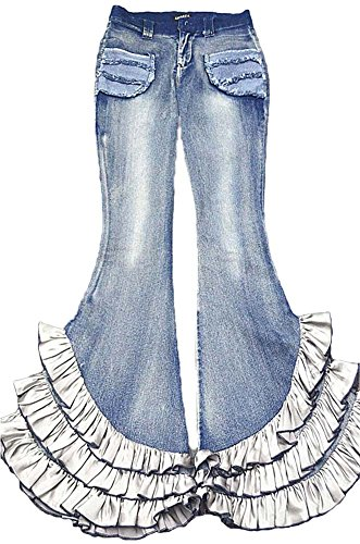 AvaCostume Womens Fading Buttom Ruffle