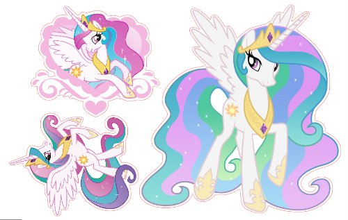 Amazon.com: My Little Pony Princess Celestia Set Of 3 Removable Wall  Stickers: Home Improvement Part 45