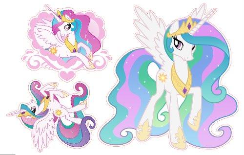 Amazon.com: My Little Pony Princess Celestia Set Of 3 Removable Wall  Stickers: Home Improvement Part 45