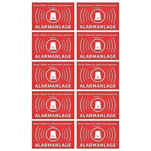 per porte segnale di avviso//–/Segnale di pericolo//–/Avvertenze cancelli/ /Sticker /Attenzione Allarme attivo Adesivo Allarme segnale di allarme finestre /Segnale/ /